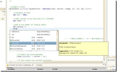 Автодополнение кода javascript